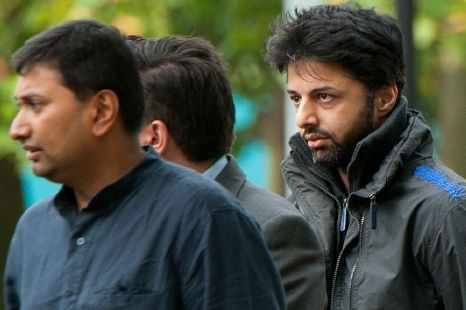 South Africa extradition hearing: Shrien Dewani (right) arrives at Belmarsh Magistrates' Court
