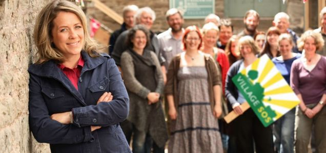 Sarah Beeny presents BBC's Village SOS (Picture:BBC)