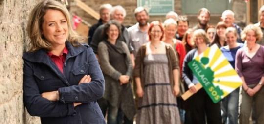 Sarah Beeny presents BBC's Village SOS (Picture:BBC)