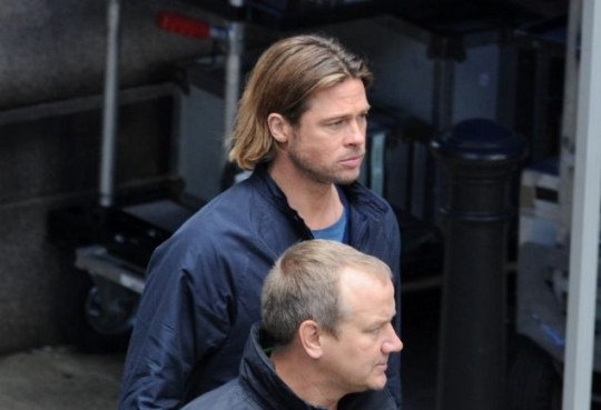 Brad Pitt, World War Z, Glasgow
