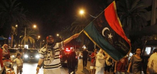 Rebels have entered the capital city of Tripoli (Picture: Reuters)