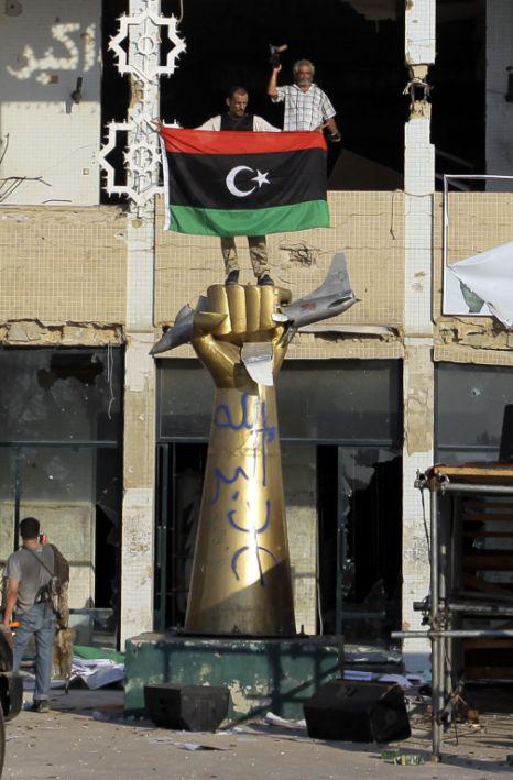 Rebel fighters gaddafi