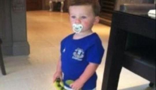 Kai Rooney Everton Manchester United Wayne Rooney son Coleen Rooney