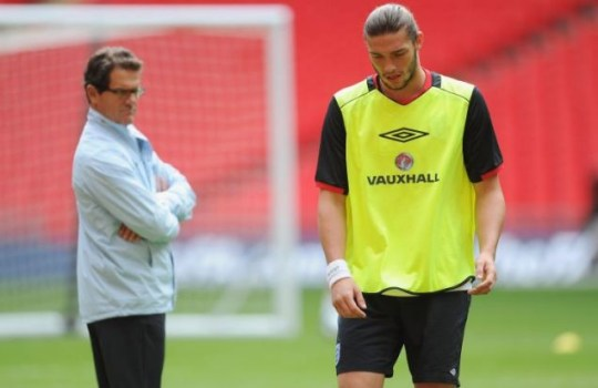 Fabio Capello and Andy Carroll England