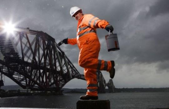 Forth Bridge painting job
