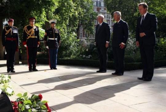 Louis Susman, Prince Charles and Prime Minister David Cameron