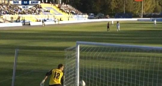 Gomelko goalkeeper fail FC Torpedo-BelAZ Zhodino  Dnepr Mogilev