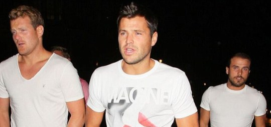 TOWIE's Mark Wright leaving Aura club in London