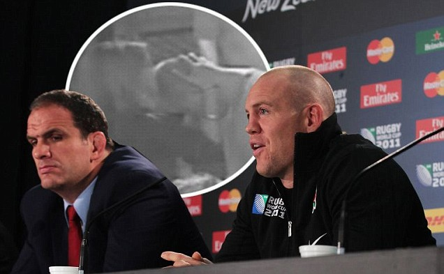 England manager Martin Johnson and captain Mike Tindall
