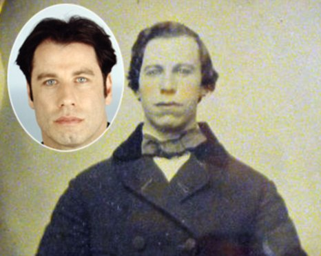 The man in the photo from 1860 has a slight resemblance to John Travolta (Picture: eBay)