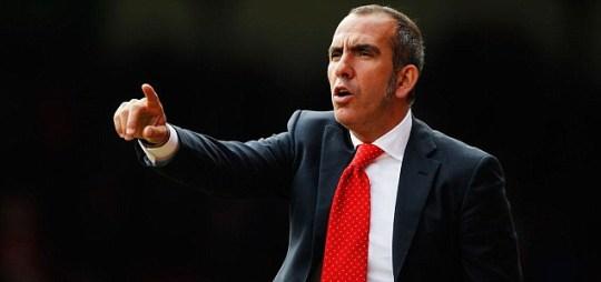 Swindon Town manager Paulo Di Canio