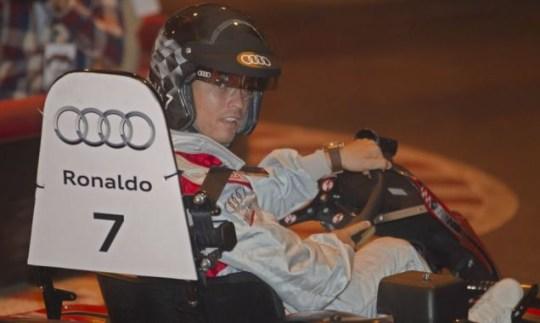 Cristiano Ronaldo go-kart race