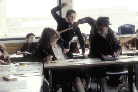 Children in class fighting