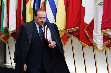 Italy prime minister Silvio Berlusconi