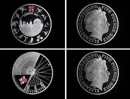 £5 coins to mark the London 2012 Olympic and Paralympic Games