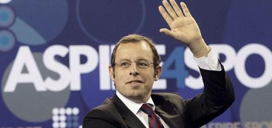 Barcelona's President Sandro Rosell