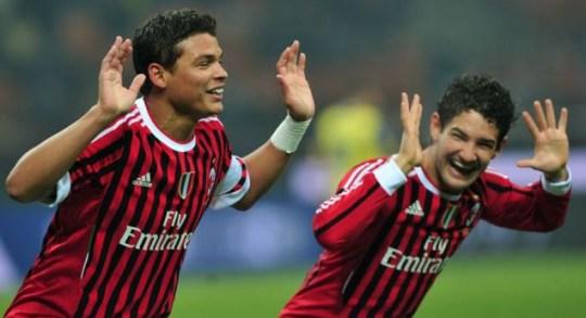 AC Milan players dancing.