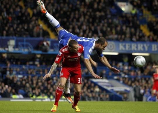 Liverpool's Craig Bellamy and Chelsea's Alex