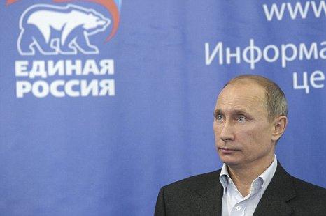 Russian president-elect Vladimir Putin United Russia elections