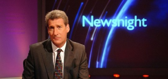 Jeremy Paxman is known for his serious and very professional attitude on Newsnight. (Picture: BBC)