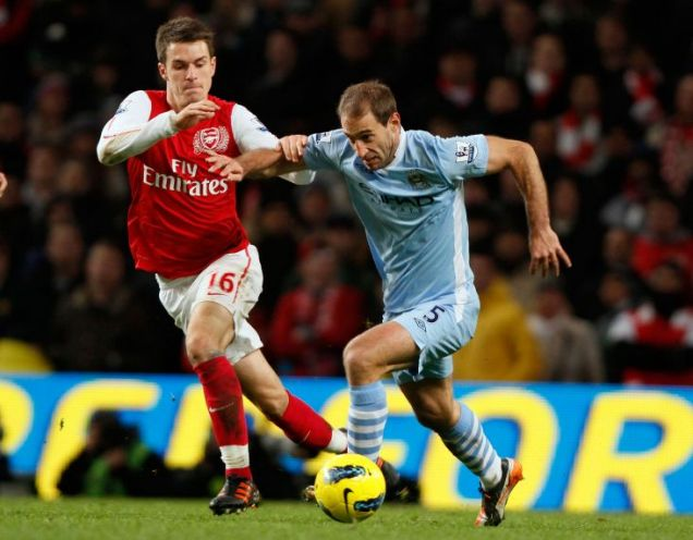 Zabaleta's fine performance helped Manchester City to victory over Arsenal