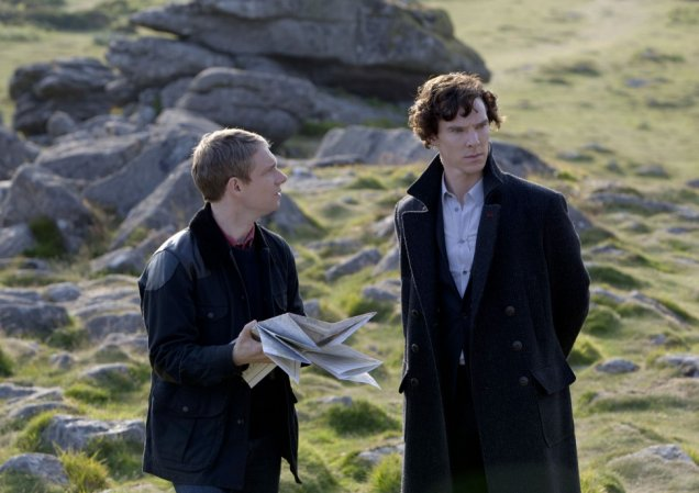 Benedict Cumberbatch and Martin Freeman star in the Sherlock's second outing. (Picture: BBC)