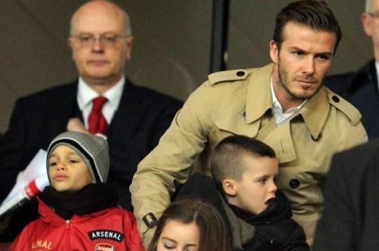 David Beckham Romeo arsenal