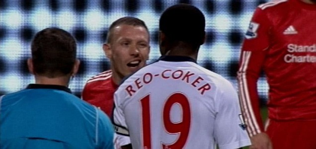 Craig Bellamy and Nigel Reo-Coker have words