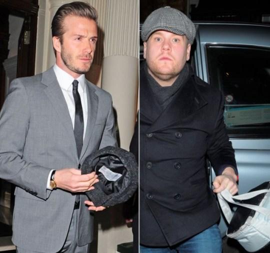 David Beckham, James Corden