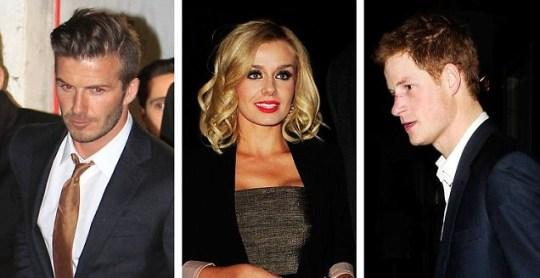 David Beckham, Prince Harry, Katherine Jenkins
