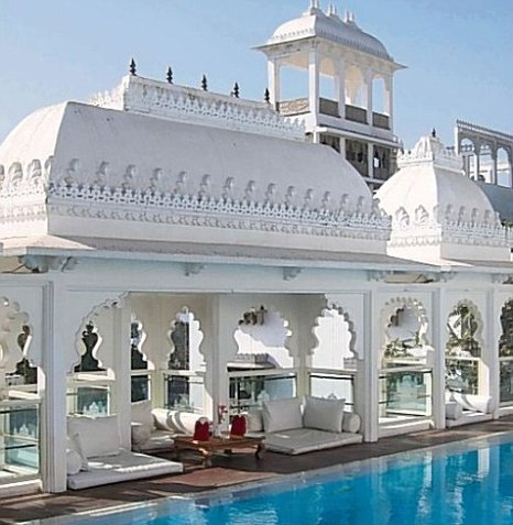 The Udai Kothi is an affordable boutique hotel with a twinkly rooftop pool