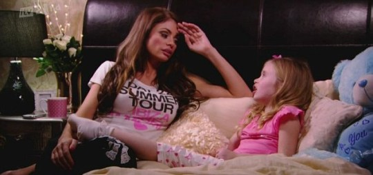 Mum and daughter film scenes on TOWIE (Picture: ITV)