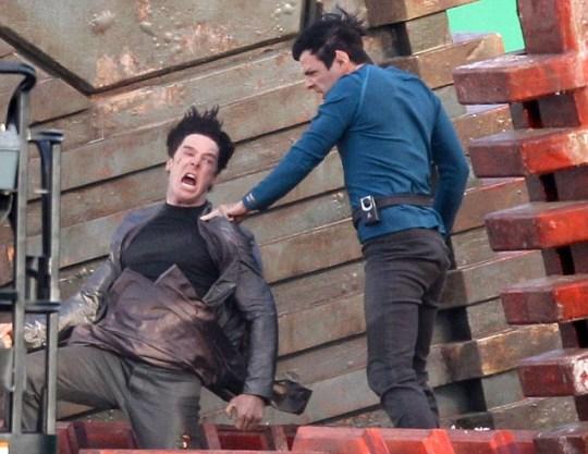 Benedict Cumberbatch Zachary Quinto Star Trek