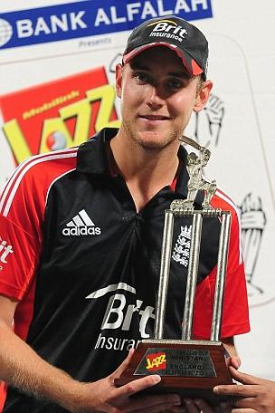 England's captain Stuart Broad