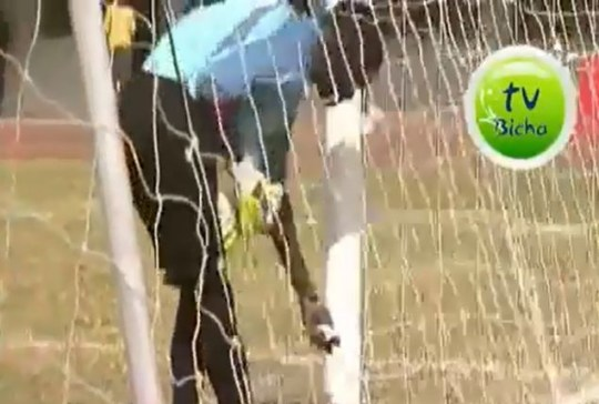 Gambia goalkeeper Musa Camara, black magic.