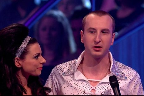 Andy Whyment was a little choked as the news of his exit was announced (Picture: ITV)
