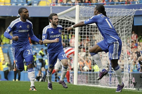 Daniel Sturridge, Juan Mata, Didier Drogba
