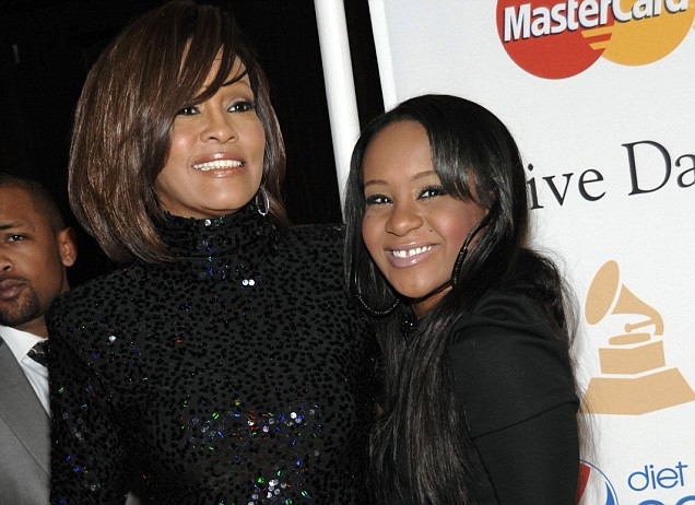 Whitney Houston's daughter Bobbi Kristina Brown, 22, dies six months after being found face down in a bathtub
