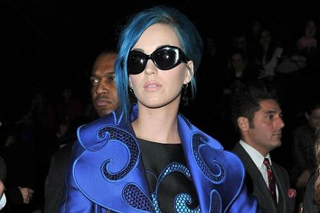 Katy Perry attends the Viktor & Rolf Ready-To-Wear Autumn/Winter 2012 show at Paris Fashion Week