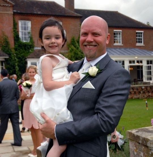 Elodie Wilton with her godfather David Orpin