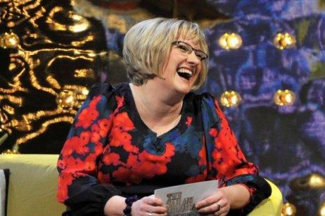 Sarah Millican invited Simon Callow onto the sofa (Picture: BBC)
