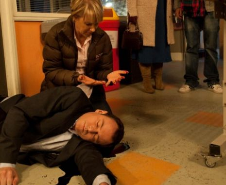 Frank Foster came to a grisly end in Corrie (Picture: ITV)