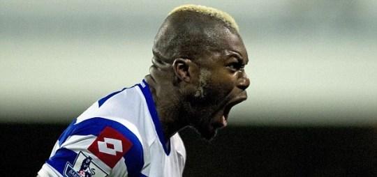 Queens Park Rangers' striker Djibril Cisse