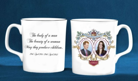 Royal wedding, mug, Prince Harry, Kate Middleton