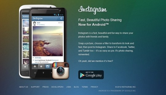 Instagram for Android downloaded one million times on first