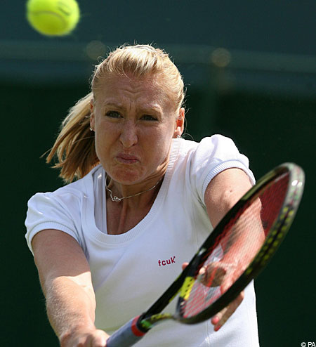 Elena Baltacha is the only British woman to make it past the first round at Wimbledon