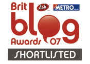 Blog Awards Shortlisted