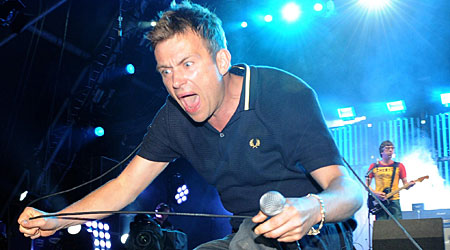 Blur nearly had to pull out of T in the Park after Graham Coxon was struck by food poisoning