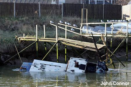 Destroyed Dunkirk boat
