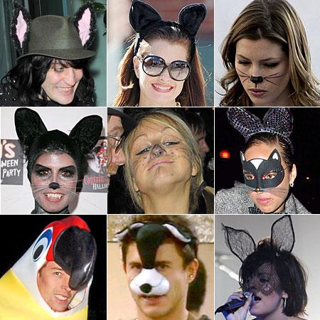 From top left: Noel Fielding; Brooke Sheilds; Jessica Biel; Heidi Klum; Nikki Grahame; Alicia Keys; Peter Crouch; Jeremy Edwards; Lily Allen